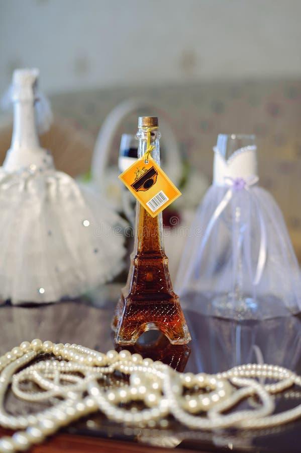 Kognak-Flasche stockfotografie