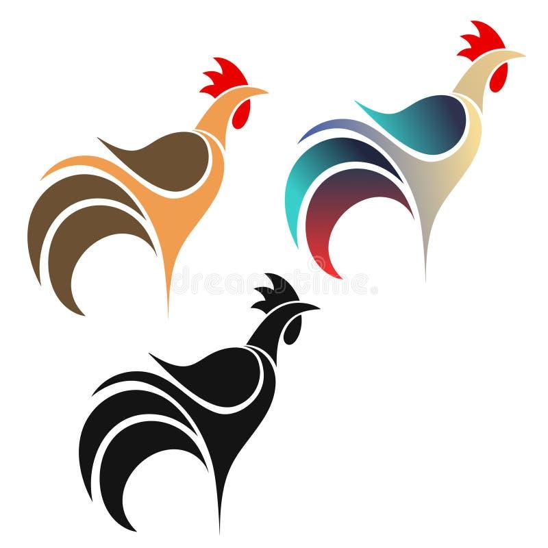 Kogut. Logo royalty ilustracja