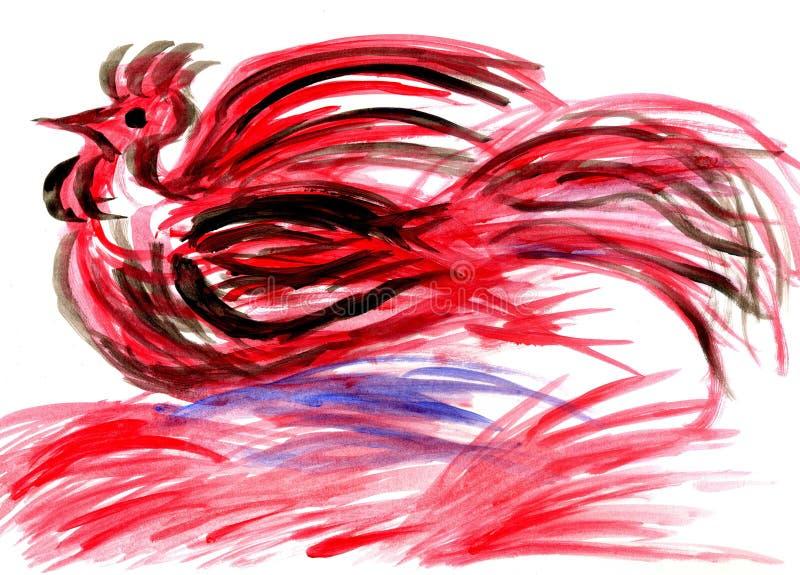 Kogut od Czerwonych uderzeń ilustracja wektor