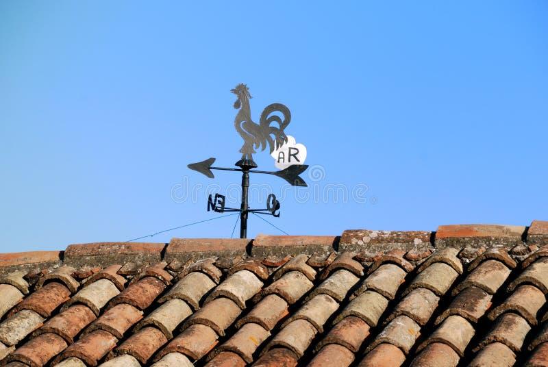 koguta dachu sygnału wiatr zdjęcie stock