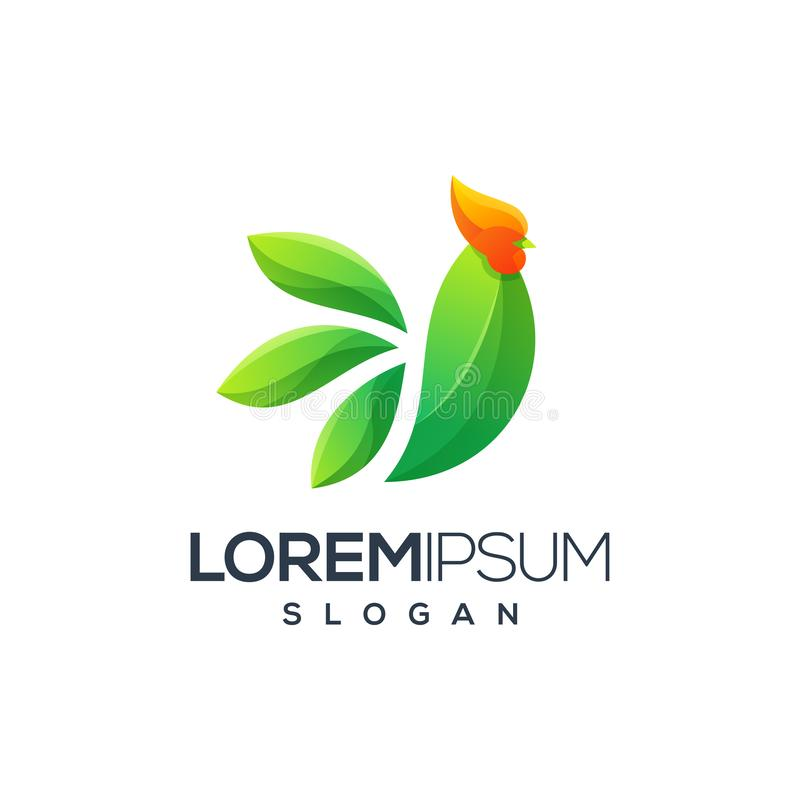 Koguta logo projekt, wektor, ilustracja gotowa używać dla twój firmy ilustracja wektor