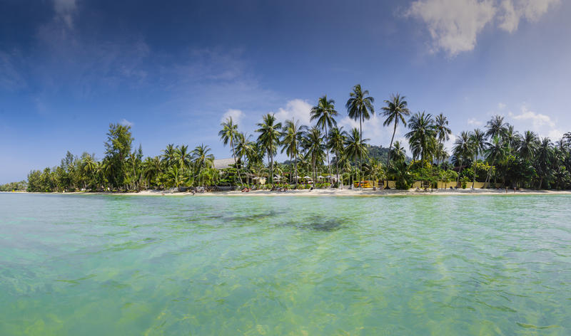 Koh μπλε και πράσινο πανόραμα νησιών Samui στην Ταϊλάνδη στοκ εικόνες