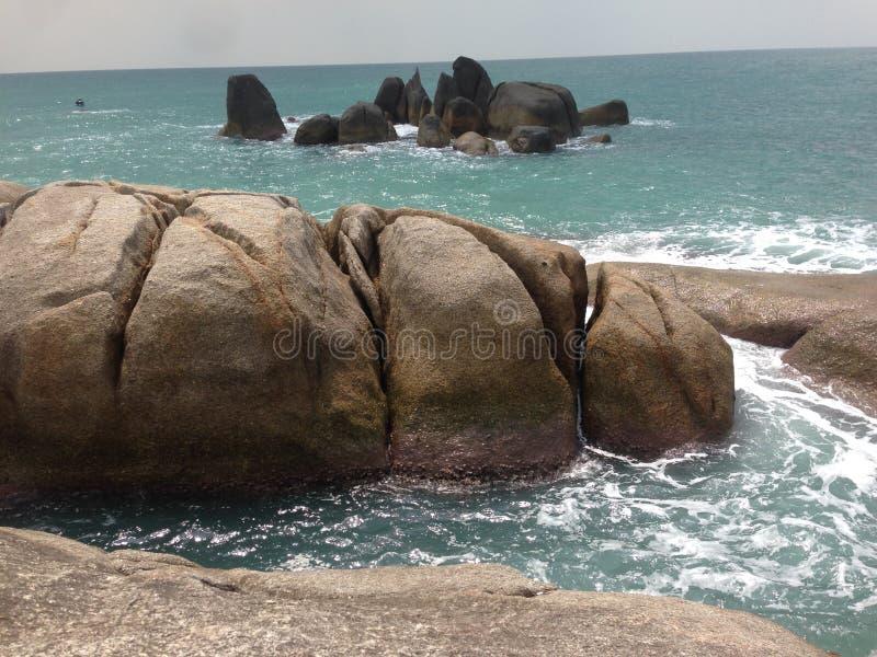 Koh σχηματισμοί βράχου Samui στοκ εικόνα