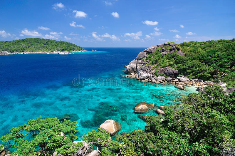 Koh 8 of Similand island royalty free stock photography
