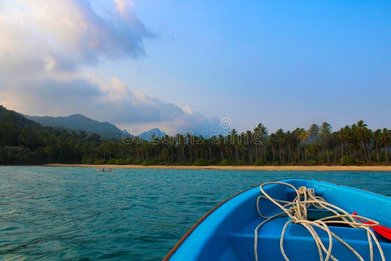 Koh Chang in barca fotografia stock