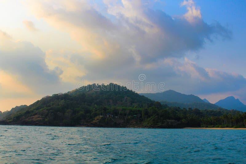 Koh Chang in barca fotografie stock