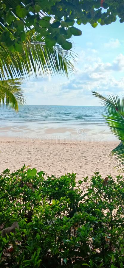 Koh Chang Beach bonito em Thialand fotografia de stock royalty free