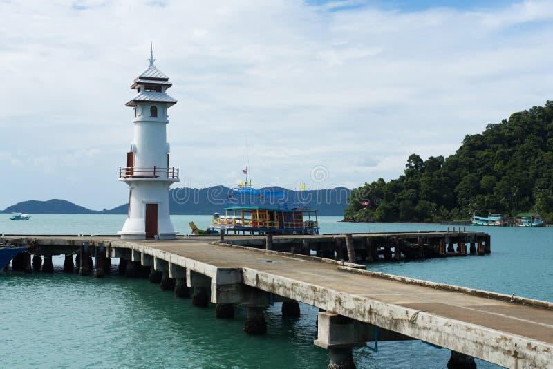 Koh Chang Pier, Tailândia fotografia de stock royalty free