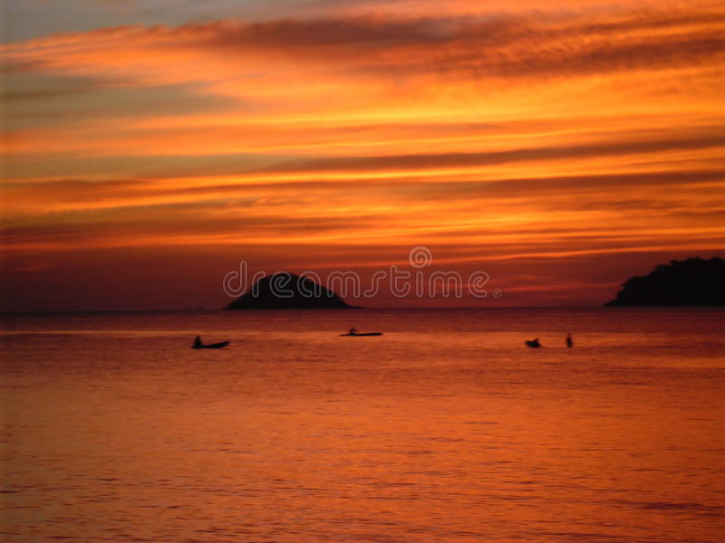 Koh Chang Sunset royalty free stock images