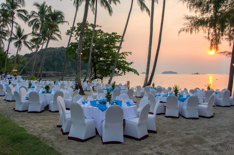 Koh Chang, sunset on the island royalty free stock photos