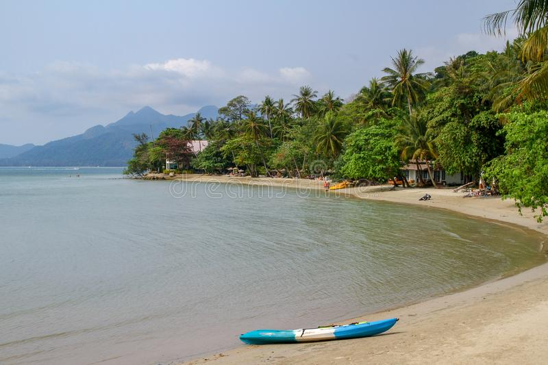 Koh chang,thailand-March 20,2015: The siam beach hotel in koh chang is beautiful at thailand royalty free stock photos