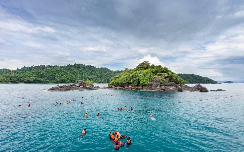 Koh Chang wyspy piękny seascape Thailand zdjęcia royalty free
