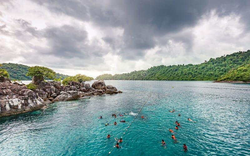 Koh Chang wyspy piękny seascape Thailand zdjęcie stock
