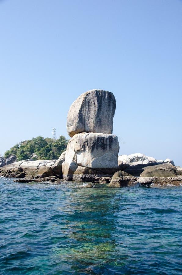 KOH HINSON, isla de Lipe, TA Ru Tao National Park, provincia de Satun imagen de archivo libre de regalías
