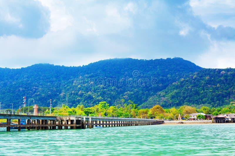 Koh Lanta Pier fotografie stock libere da diritti