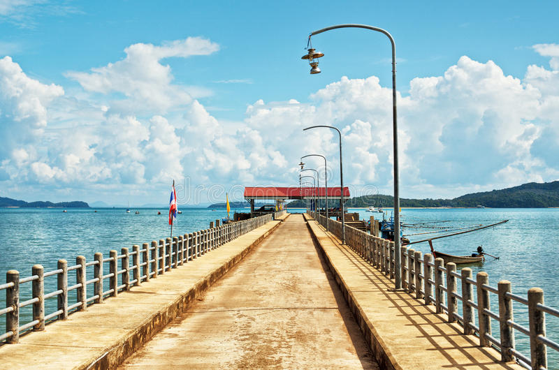 Koh Lanta Pier fotografie stock