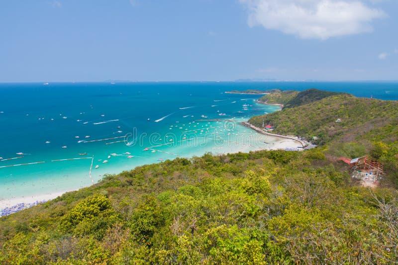 Koh larn Island Pattaya. High scenery view point from mountain of Pattaya island Thailand stock photo