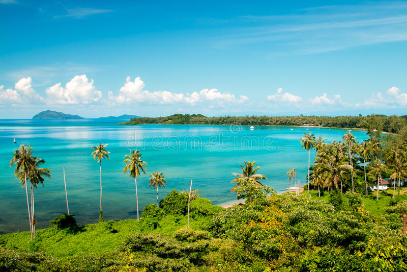 Koh Mak άποψη νησιών σε Trat στην Ταϊλάνδη θερινή περίοδο στοκ φωτογραφία με δικαίωμα ελεύθερης χρήσης