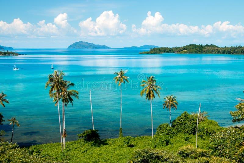 Koh Mak Island Viewpoint a Trat nella stagione estiva della Tailandia fotografie stock libere da diritti