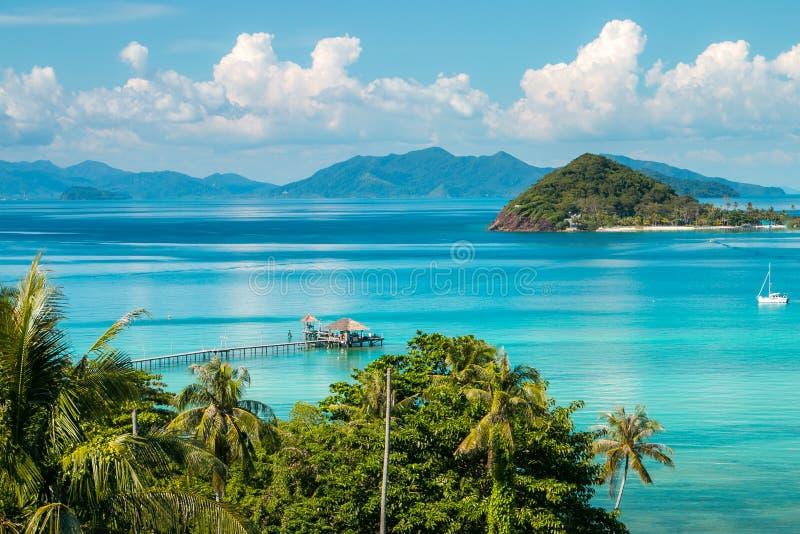 Koh Mak Island Viewpoint a Trat nella stagione estiva della Tailandia fotografia stock