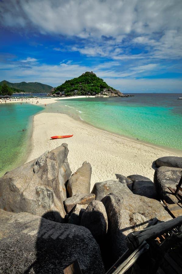 Koh Nang Juan, Kho Tao wyspa, Tajlandia obrazy stock