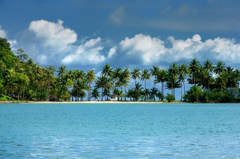 Koh Ngam plaża, Koh Ngam wyspa, południowa porada Koh Chang wyspa, Tajlandia zdjęcie stock