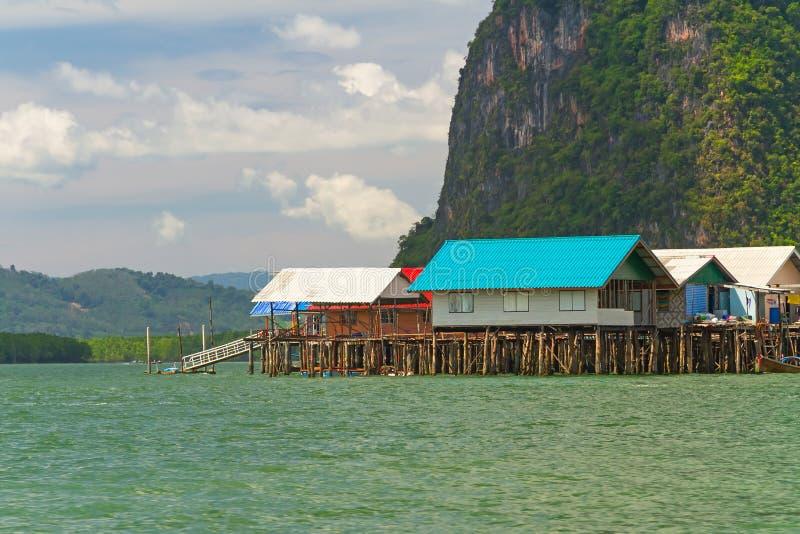 Koh Panyee ugoda budował na stilts w Tajlandia