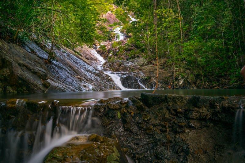 Koh Phangan Thailand Surat för Paradise vattenfall 2 thani fotografering för bildbyråer