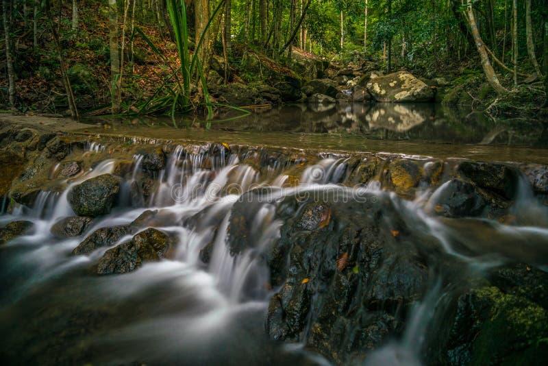 Koh Phangan Thailand Surat för Phaeng vattenfall 4 thani royaltyfria foton