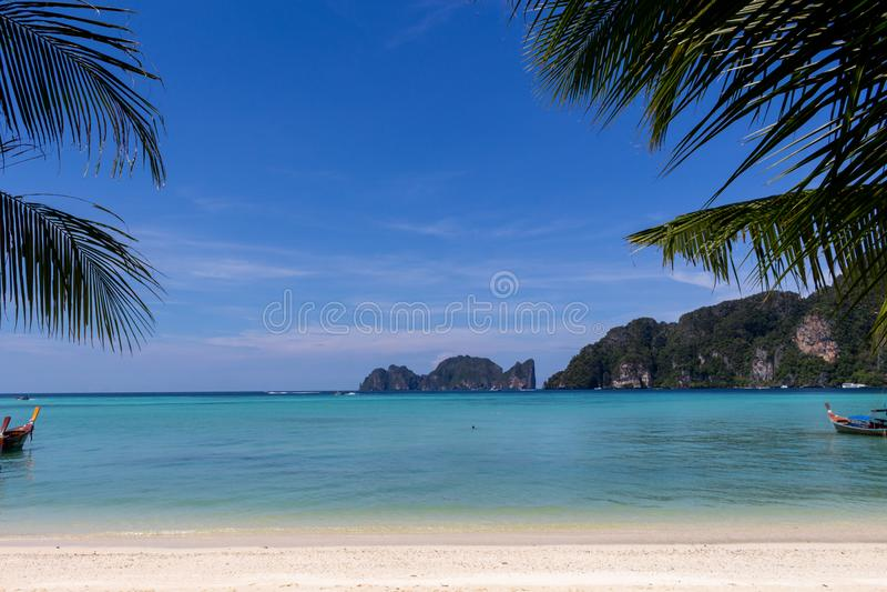 Koh Phi Phi-droomstrand royalty-vrije stock afbeeldingen