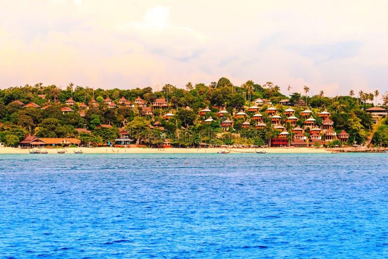 Koh Phi Phi Don in andaman overzees, Phi Phi Islands Krabi royalty-vrije stock afbeelding