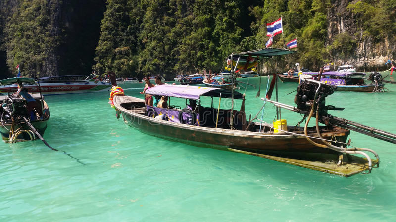 Koh Phi Phi Ley island, Thailand stock photography