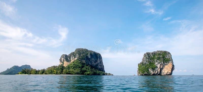 Koh Poda ö och Koh Ma Tang Ming Island, det Andaman havet, Krabi landskap, Thailand arkivfoto