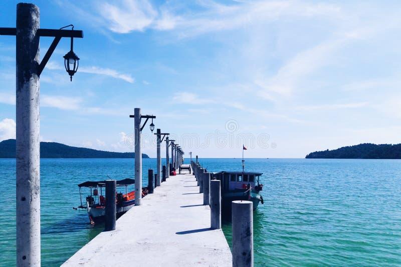 Pier stock photo
