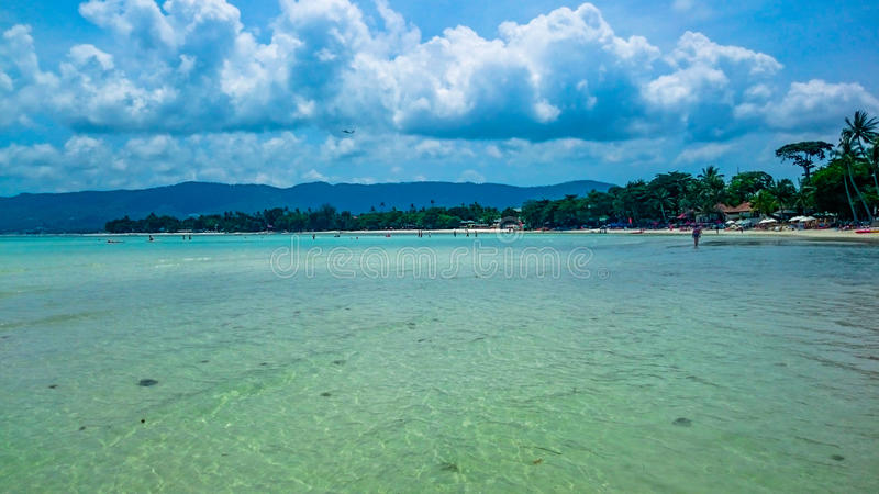 Koh Samui beach. In beautiful sunny day stock images