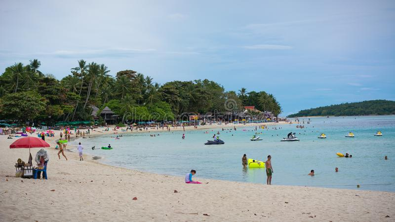 Koh samui beach. Surrounded by nature with crystal clear sea, paradise and simplicity, relaxn stock image