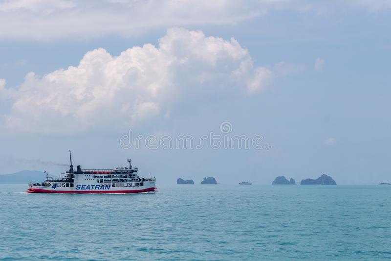 Koh Samui-Inselfähre Thailand lizenzfreies stockfoto