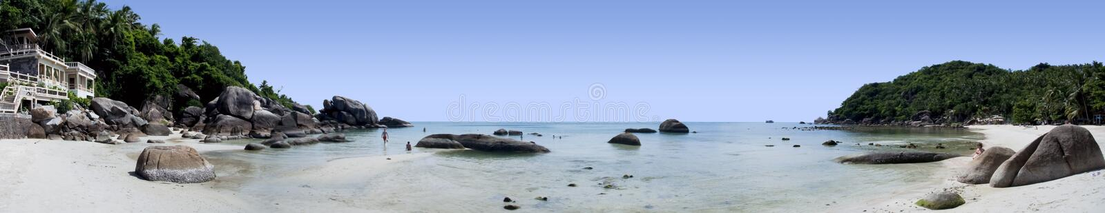 Koh samui island beach resort panorama thailand royalty free stock photography
