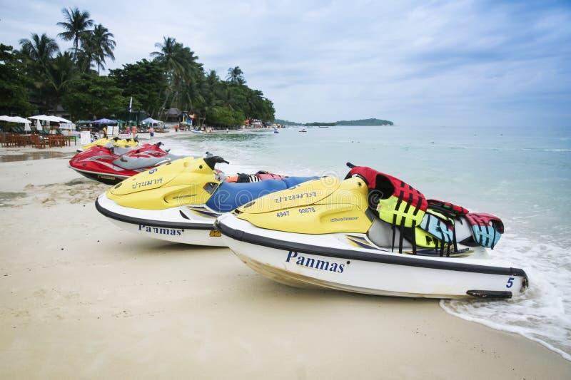 Dżetowa narty koh samui plaża Thailand zdjęcia stock
