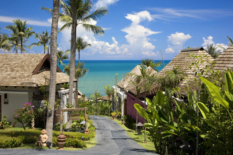 Koh Samui in Thailand. Beach resort in Koh Samui, Thailand royalty free stock image