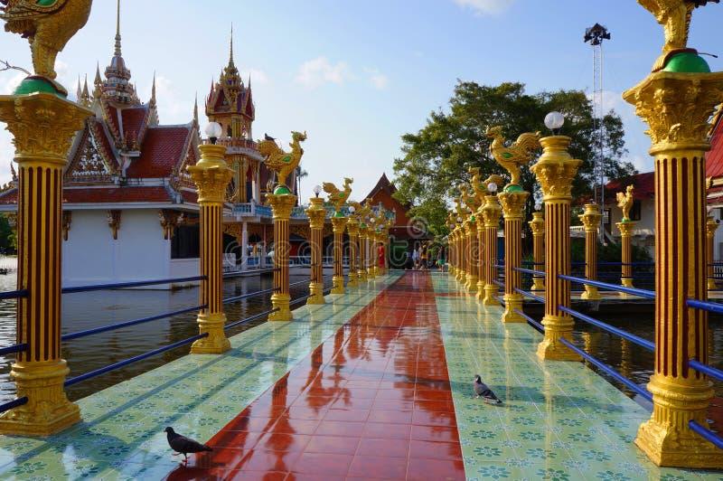 Koh Samui, Thailand,Buddhist temple, Wat Laem Suvannaram. Buddhist temple, Wat Laem Suvannaram, Located on the lake stock image