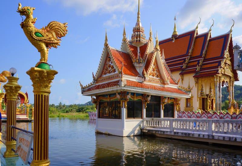 Koh Samui, Thailand,Buddhist temple, Wat Laem Suvannaram. Buddhist temple, Wat Laem Suvannaram, Located on the lake royalty free stock image