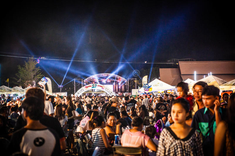 KOH SAMUI. THAILAND 3 MAY 2014 Music Festival on stock images