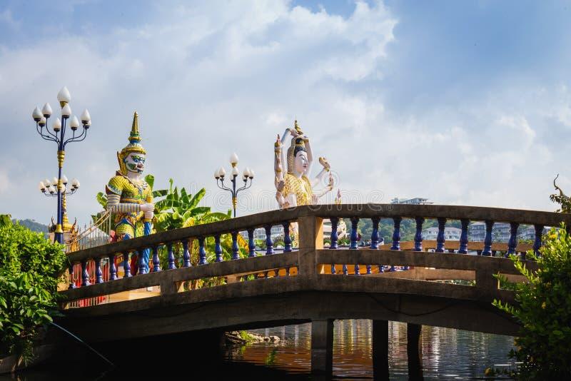Koh Samui Thailand, statue chinoise Guanyin de Dieu chez Wat Plaileam t photo stock