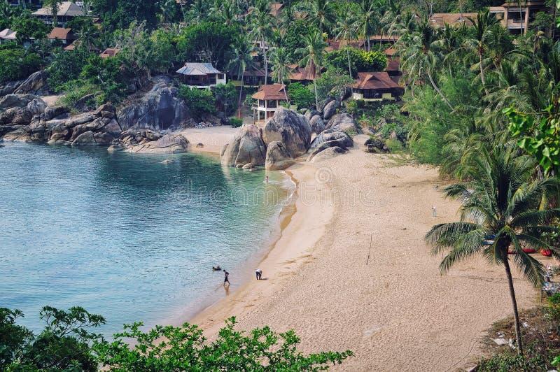Koh Samui, Thailand. Very secure beach (Silver) at thai island Koh Samui, Thailand royalty free stock photo