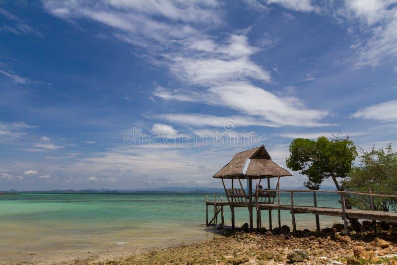Koh Talu é uma ilha privada no Golfo da Tailândia imagem de stock