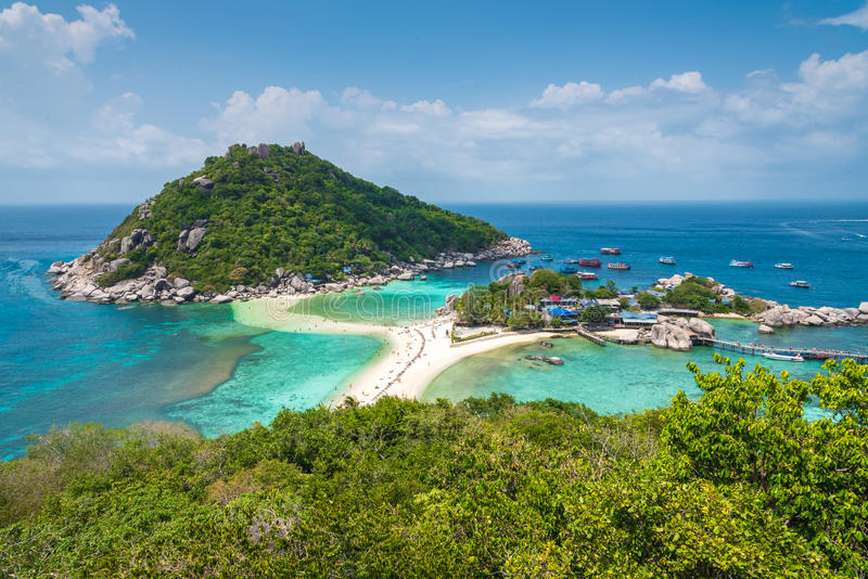 Koh tao island. Suratthani thailand, in beautiful sunshine day royalty free stock image