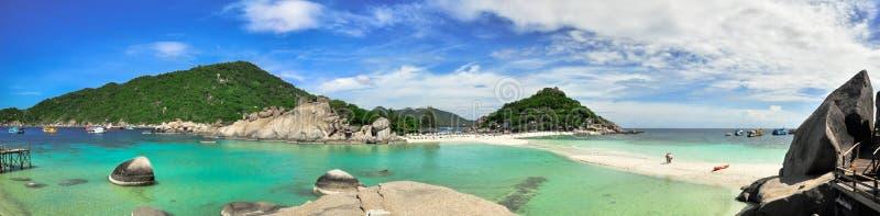Koh Tao panorama - raj wyspa w Tajlandia. zdjęcie stock