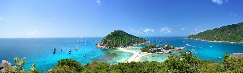 Koh tao. Panorama view point Koh Tao - a paradise island in Thailand stock photos