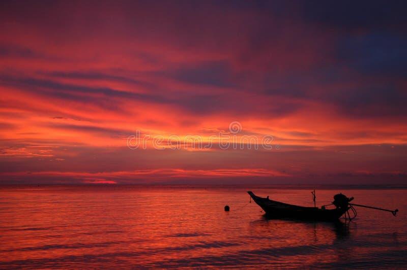 KOH Tao, puesta del sol de Tailandia imágenes de archivo libres de regalías